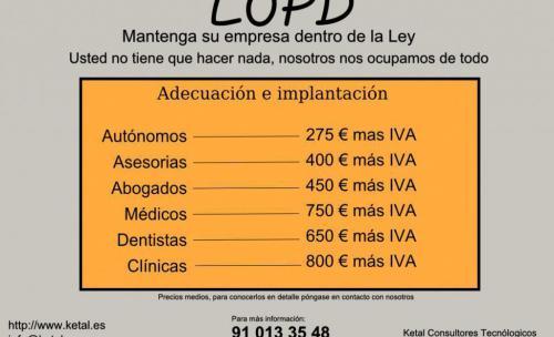 Oferta LOPD