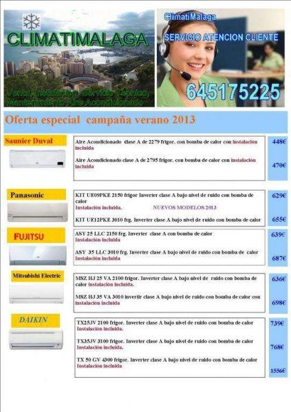 ofertas aire acondicionado2013