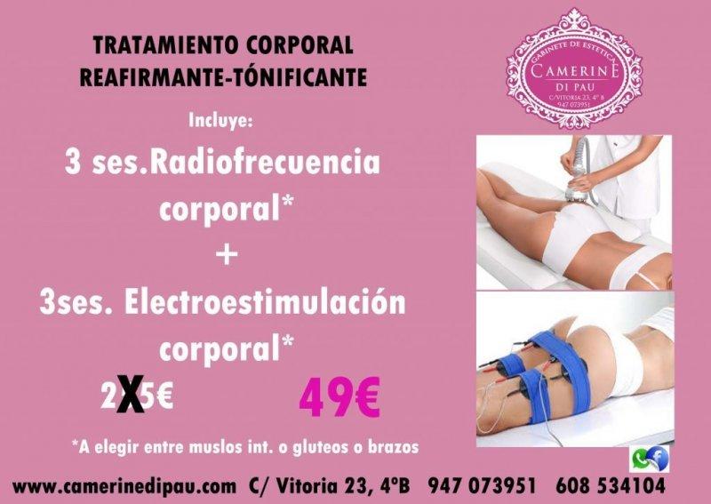 Radiofrecuencia corporal + electroestimulación