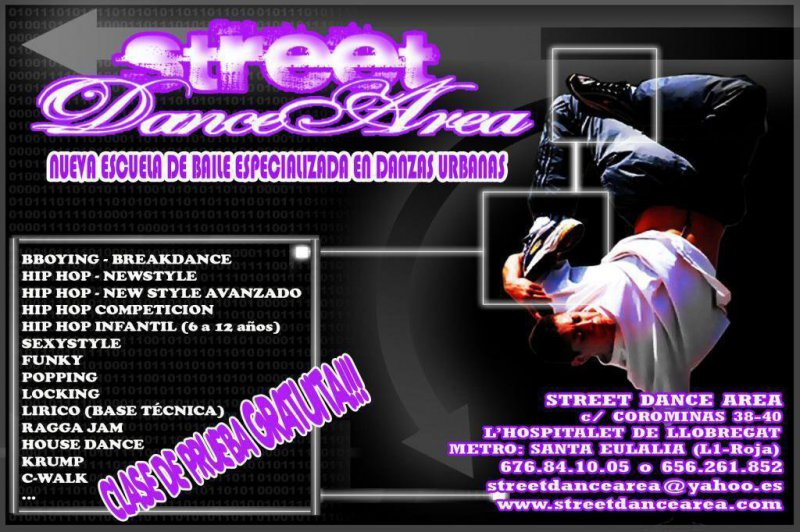 Clases Breakdance, Hip Hop, Street Dance, Funky, Lirico, Popping, Locking, Krump, House Dance, Sexystyle...