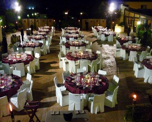 Cena de gala en el exterior