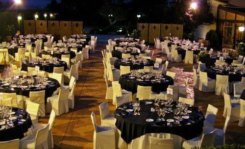 Cena de gala al exterior