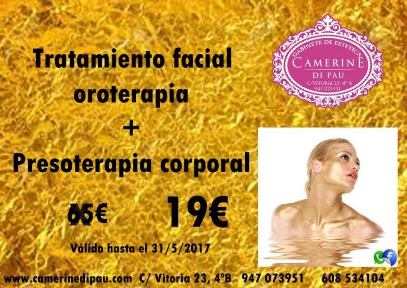 Tratamiento facial Oroterapia + presoterapia