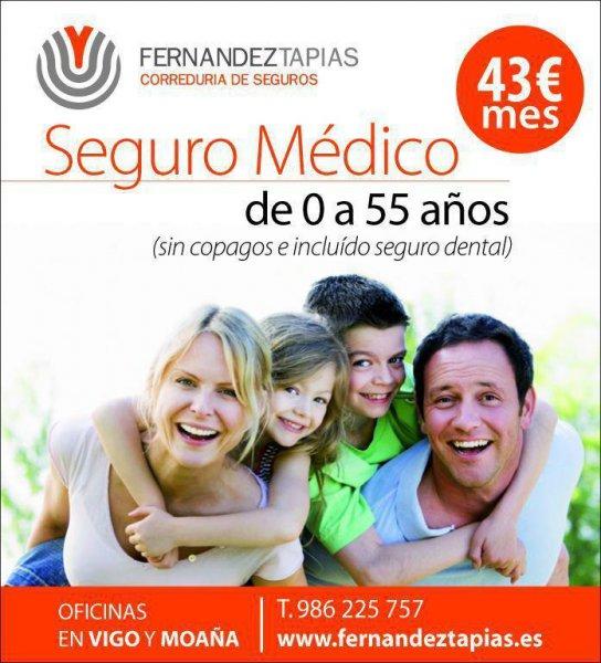 SEGURO MEDICO TARIFA PLANA 43 €