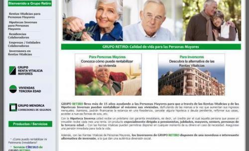 GRUPO RETIRO, Líder en España en Rentas Vitalicias e Hipotecas Inversas, presenta nueva web