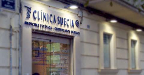 Fachada de clinica de certificados medicos Clínica Suecia