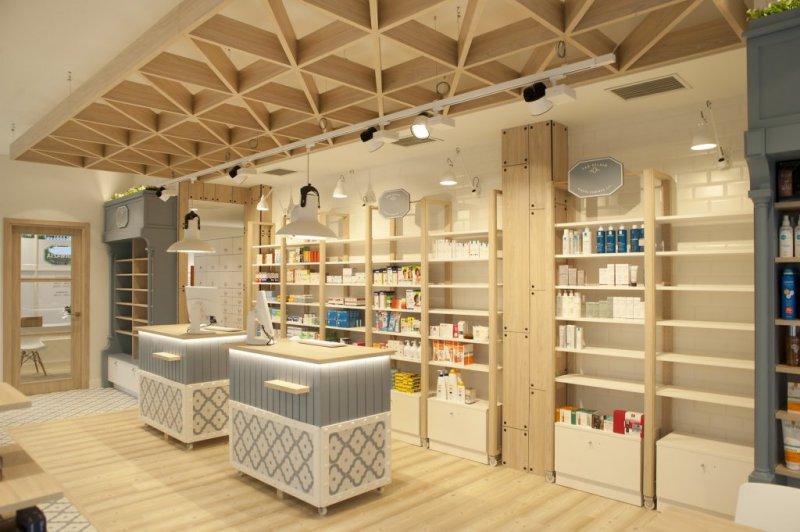 Diseño interior de farmacia en Zarautz por Sube Interiorismo
