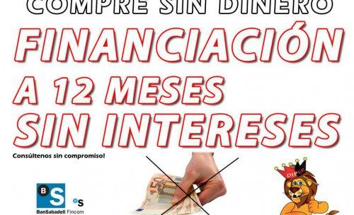 FINANCIACION A 12 MESES SIN INTERESES