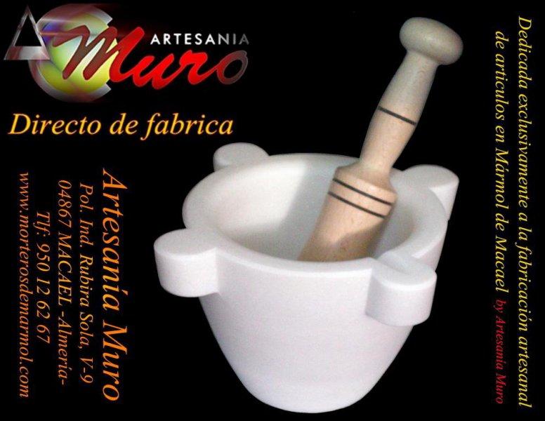 Morteros de mármol by: Artesanía Muro
