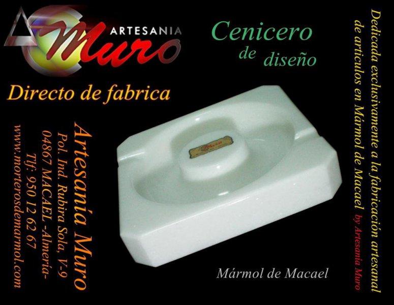 Precioso cenicero para uso o decoración, de acabado pulido by Artesanía Muro