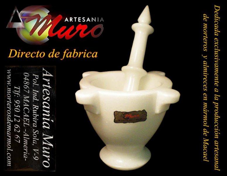 Mortero para la decoración moderna de cocinas, en mármol blanco