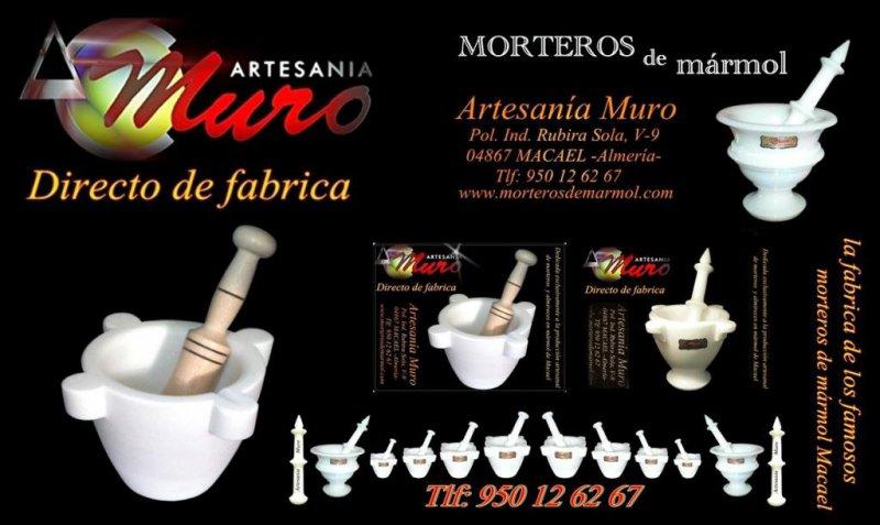catalogo modelos de morteros de mármol
