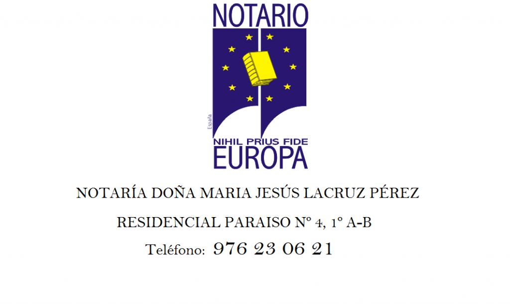 Notario Maria Jesus Lacruz Perez
