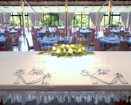 Salón de bodas - vista desde la esa presidencial