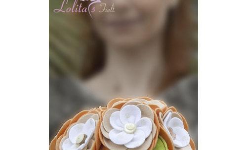 Ramos de novia de fieltro, tela y bisutería personalizados