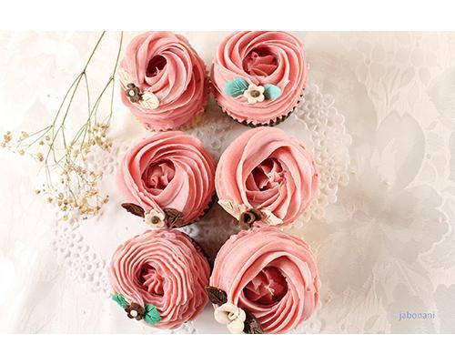 Jabones cupcakes en forma de flor