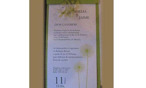 Servicio de imprenta para menus de boda