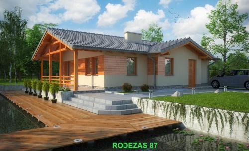 Casa de madera ecológica de 87 m2.