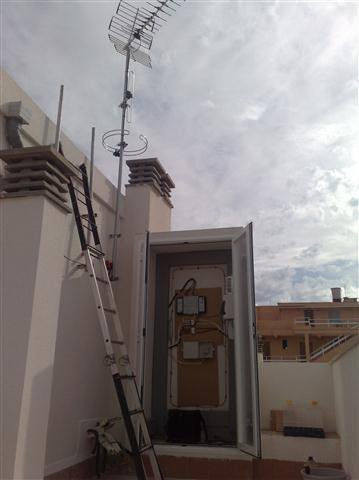 Instalación de antena y amplificadores