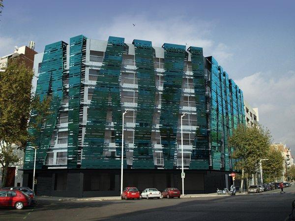 rehabilitacion fachada edificio de oficinas
