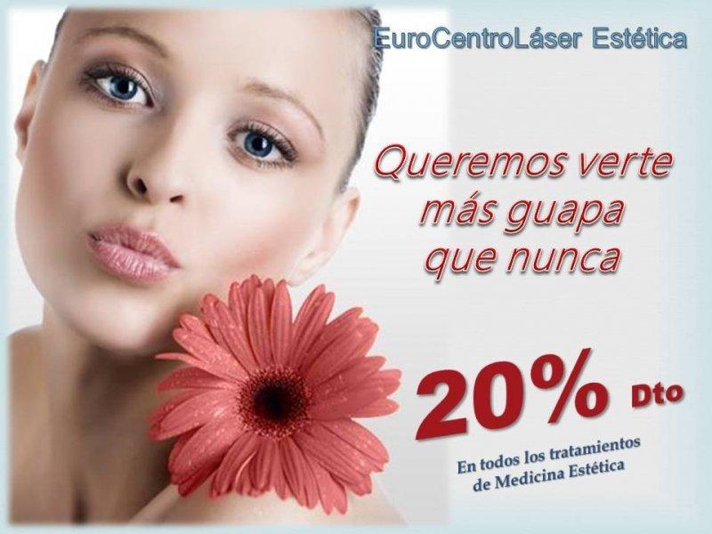 Aprovecha nuestros geniales precios en medicina estética. Todos nuestros tratamientos, con un 20% de descuento.