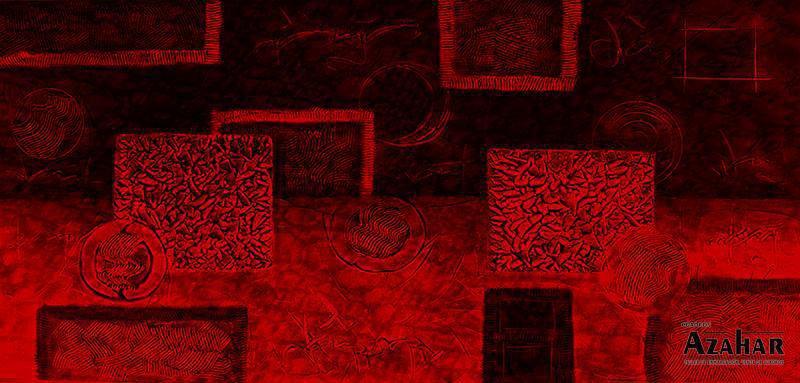 Lienzo sobre bastidor- mural rojo  Listo para colgar  Medidas  115 x 55 cm-115 euros