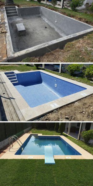 Empresas construccion Vigo, construccion chalets vigo, piscina.
