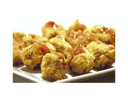 Dados de solomillo en tempura