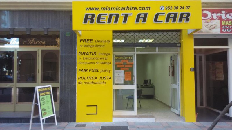 Alquiler de coches Fuengirola, Rent a car Fuengirola