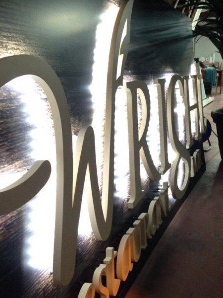 letras corpóreas con luz led