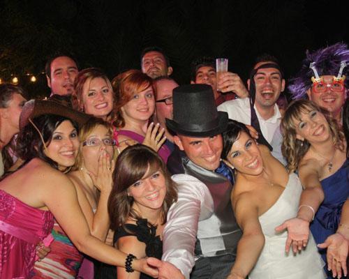 La novia con algunos invitados