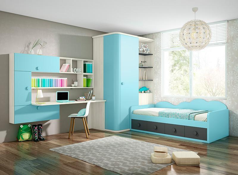 Dormitorios juveniles funcionales y duraderos.