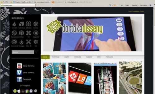 Web DORTOKA disseny