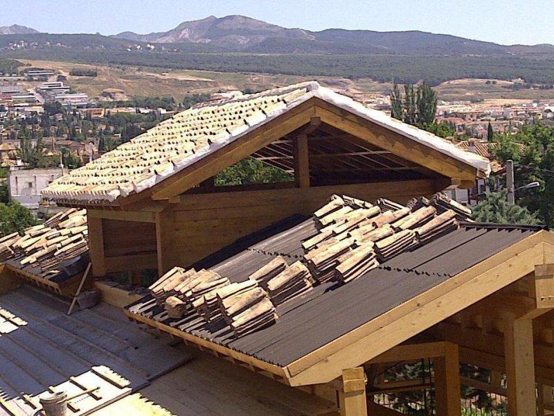 Construcción de cubierta aligerada