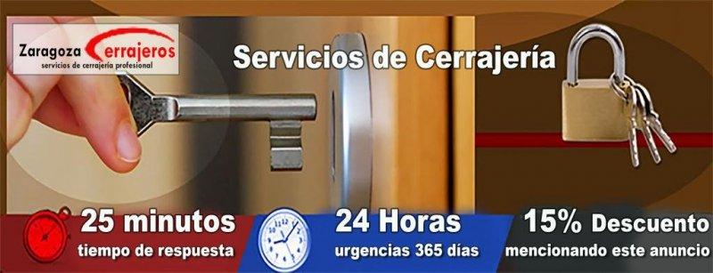 Servicios de cerrajeria en Zaragoza baratos.
