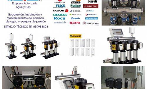 instalación, reparación y mantenimientos de bombas de agua y gas