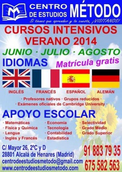 Cursos de verano Junio, Julio y Agosto 2014