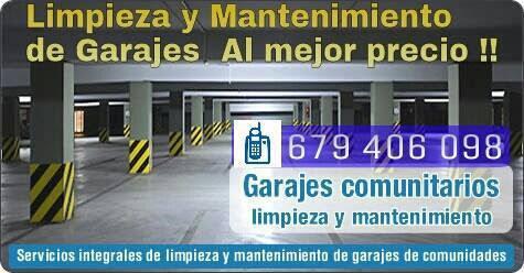 Servicios De Limpieza y Mantenimiento de garajes