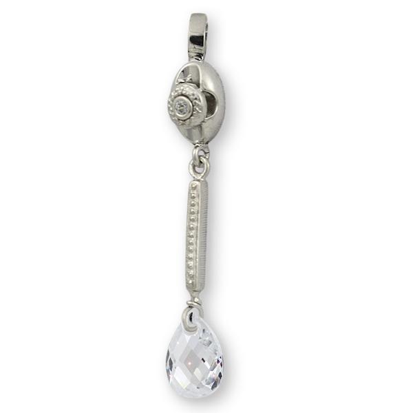 Colgante plata para novia con circonita briolet