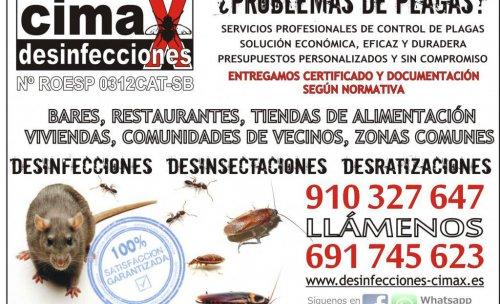 FUMIGACIÓN Y CONTROL DE PLAGAS CON Nº ROESP 0312CAT-SB