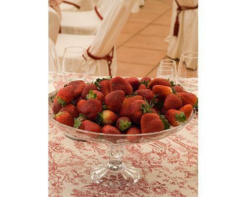 Centro de mesa con fresas