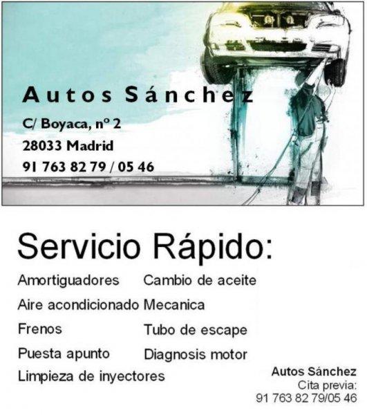 Autos Sanchez  servicios mecanica rapida