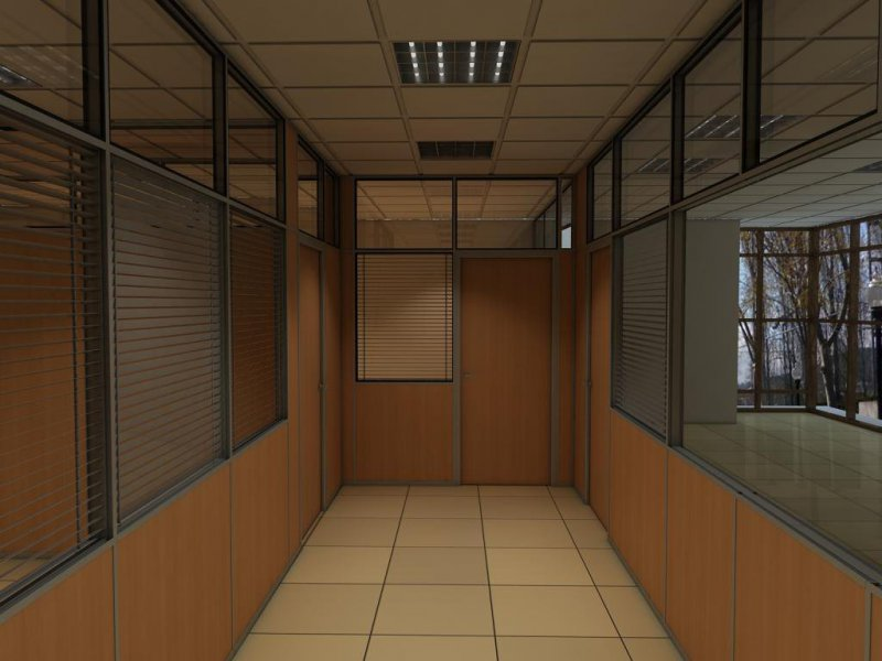 pasillo de acceso a oficinas