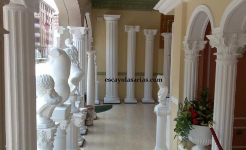 Columnas, arcos, decoración escayola