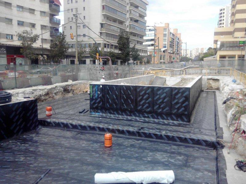 Impermeabilización cubierta Metro Málaga