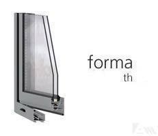 FORMA thermic ventana practicable de aluminio. La serie básica de nuestras ventanas practicables. Posibilidad de acristalamiento de hasta 36mm. PRESTACIONES: Aire- A4 / Agua- E9A / Viento- VC5 / Ruido- 32dbA. Mejores prestaciones obtenidas: 1,6 W/mK. Mar