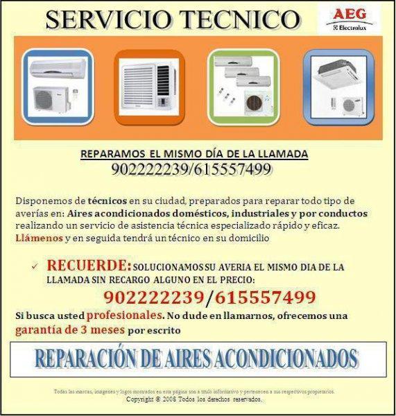 Servicio asistencia técnica aeg