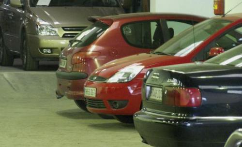 vista interior del parking