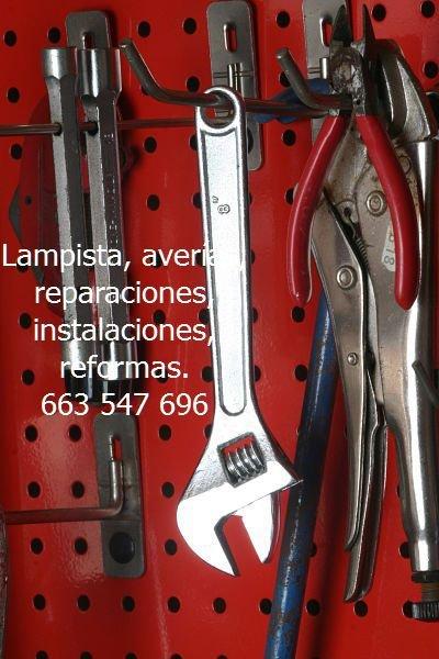 Lampista-averías-reparaciones-instalaciones-reformas
