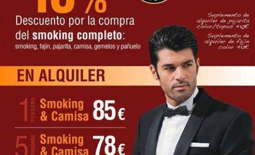 Promoción alquiler y venta de smoking